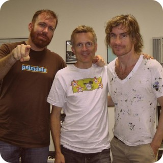 With Linus of Hollywood and Steven Fox (Secret Friend) in the studio